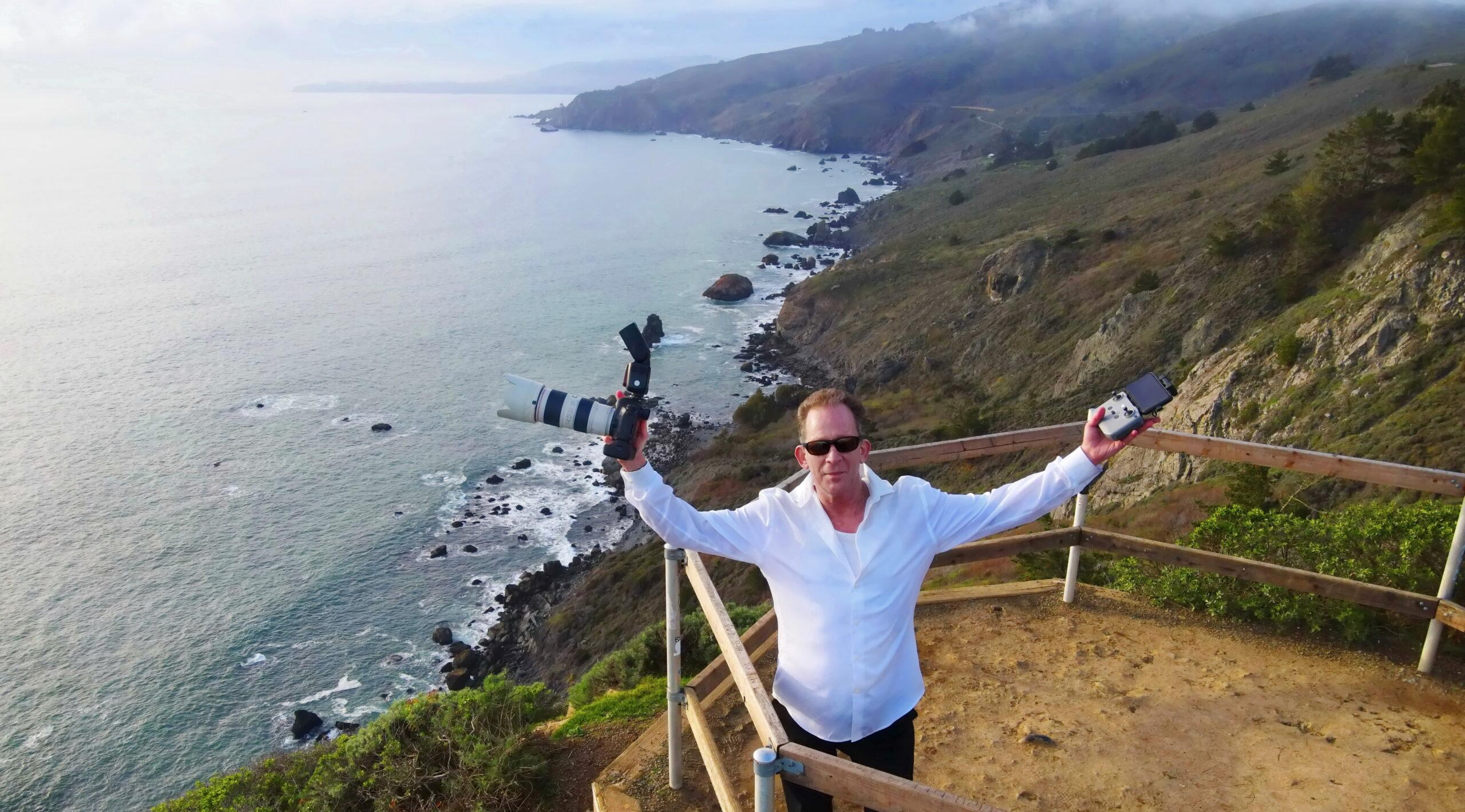 Joel Moses Muir Beach Drone Selfie